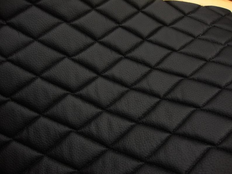 Vinyl  Leather Champion Faux vinyl Black Quilted  auto image 0