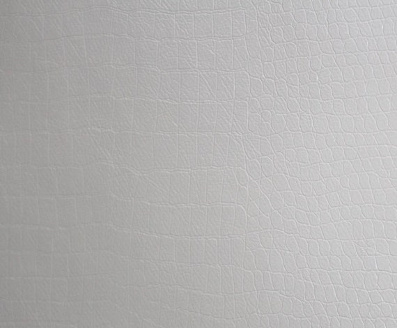 "Vinyl Alligator White Fake Leather Upholstery Fabric 54/"" Wide Sold By the Yard"