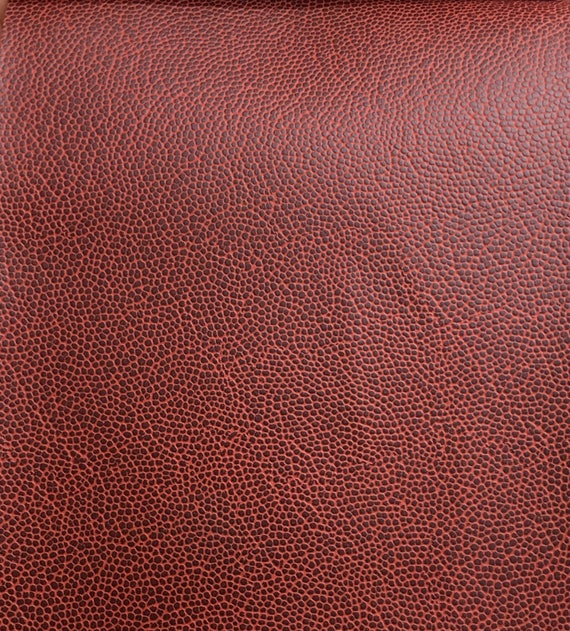 "MARINE VINYL ORANGE PLEATHER FAUX LEATHER OUTDOOR INDOOR FABRIC BY YARD 54/""W"