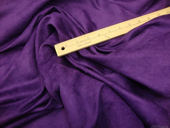 "Suede Micro Purple Drapery Upholstery Sofa Chair Fabric by the yard  58/"" Wide"