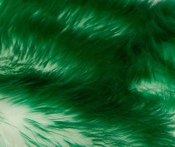 Shaggy Emerald Tips Fur Faux Fur 8'x10' Rectangle