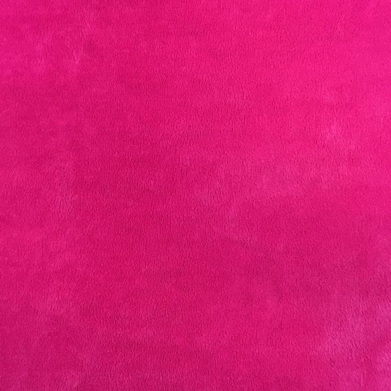 "ULTRA Minky Solid FUCHSIA Fabric 58/"" Wide Sold by the yard"