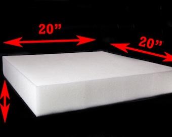 "2""x 20""x 20"" or 3""x 20""x 20""High Density Seat Foam Cushion Replacement Upholstery Per Sheet"