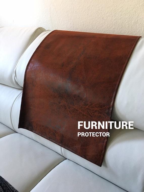 Copper Ed Distressed Sofa Love, Leather Furniture Arm Protectors