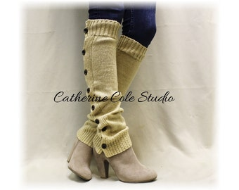 CYBER MONDAY Only,button down Leg warmers button down leg warmers womens  knit  legwarmers  boots Temptation leg warmers Catherine Cole LW07
