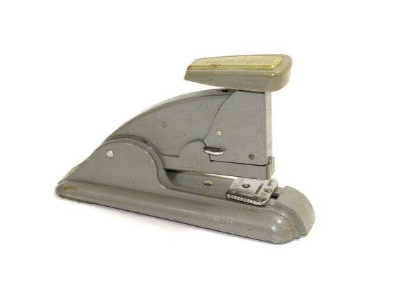 Vintage Swingline agrafeuse 40 modèle ardoise gris | Remplissage facile et possibilité de Tack | Mid Century Modern MCM | Fournitures de bureau Vintage