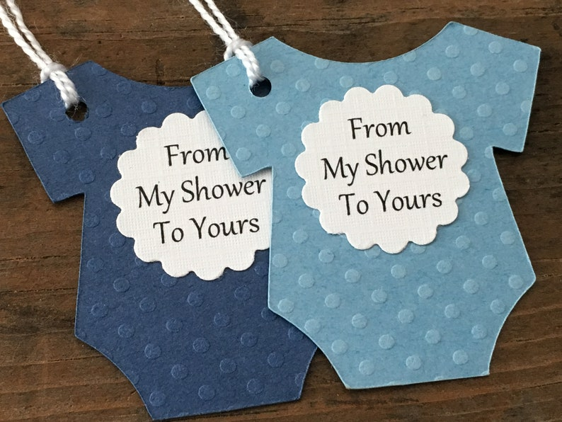1203b57ba From My Shower To Yours Tags Blue And Navy Baby Shower Baby | Etsy