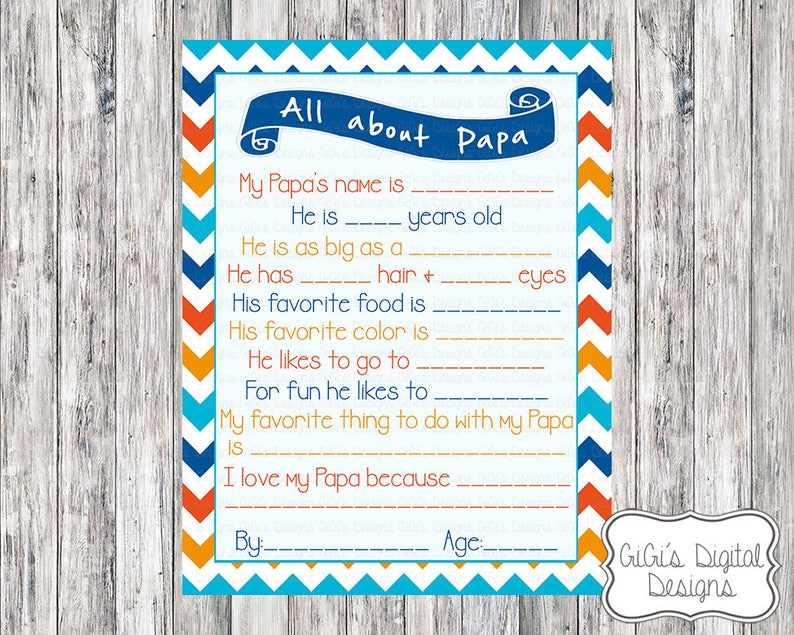 image about All About My Papa Printable identify All above Papa, Papa study, Fathers Working day Study, Fathers working day questionnaire, Fathers Working day Present, Fathers Working day Supply, Fathers Working day Printable