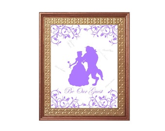 Beauty And the Beast Wedding Guest Book Alternative Print 11 x 14 Instant Download