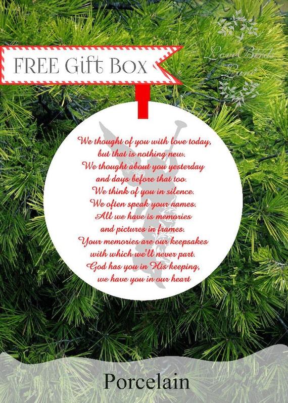 image 0 - Guardian Angel In Loving Memory Christmas Ornament In Memory Etsy