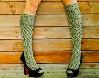 0157b7d1e0b41 Camo ARMY Knee Socks - MILITARY Winter Wool stockings - Over the Knee  LOLITA Socks - Ribbed merino wool dyed Girl Steampunk - Plus Size