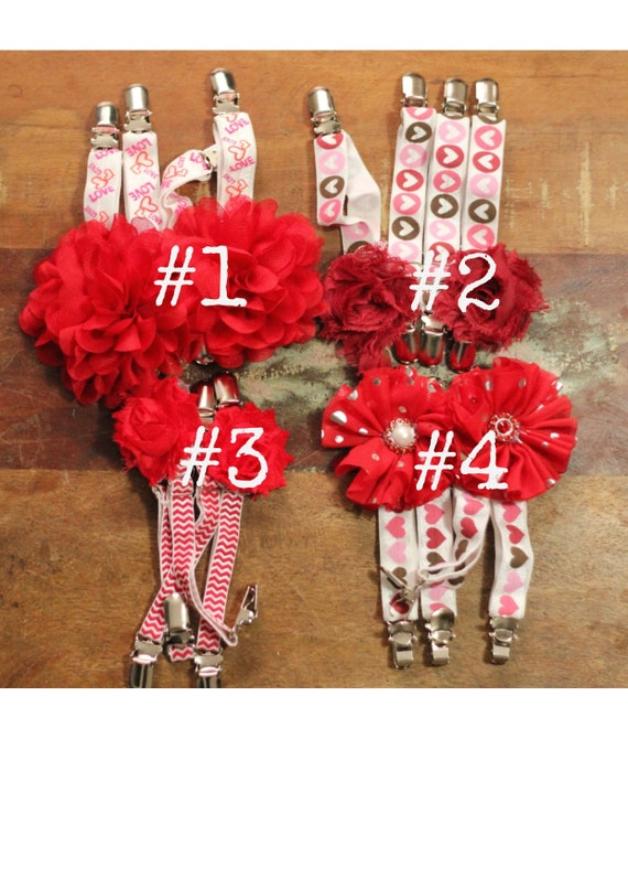 Rockabilly RED Roses Elastic Clip GARTERS for THIGH High Socks Victorian Goth Steampunk Pinup Suspenders w Large Clips for thick socks