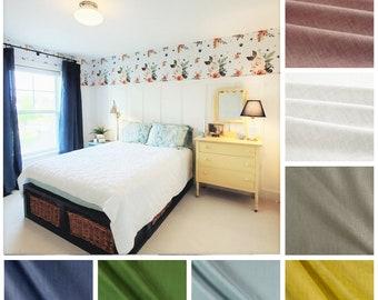 Pure Linen Curtains- 100% European Linen Drapes- Drapery Panel Pair- Custom Curtain Panels- Solid Curtains- Linen Window Panel- Cafe Curtain