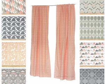 Peach Curtains Etsy