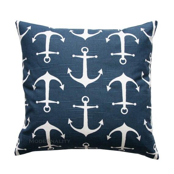 Nautical Throw Pillow PREMIER Navy Blue