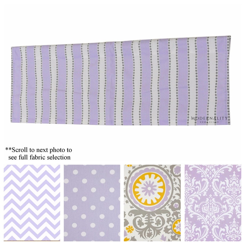 Purple Valance- Wisteria Valance- Lilac Drapery Valance- Purple Custom  Valances- Baby Girl Nursery Decor- Bedroom Valance-Add Lining+ Pleats