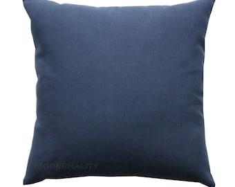 Accent Pillows, Navy Blue Solid Pillow Cover, All Sizes, Zippered Pillow, Navy Cushion Cover, Toss Pillow, Sofa Pillows, Plain Throw Pillows