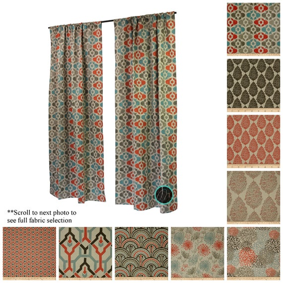 Contemporary Curtains Drapery Panel Pair Byram Curtains Etsy