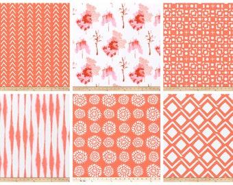 Custom Drapes- Pair of Drapery Panels- Sunset Curtains- Bold Curtains- Salmon Window Curtains- Orange Boho Curtain Panels- Bright Decor