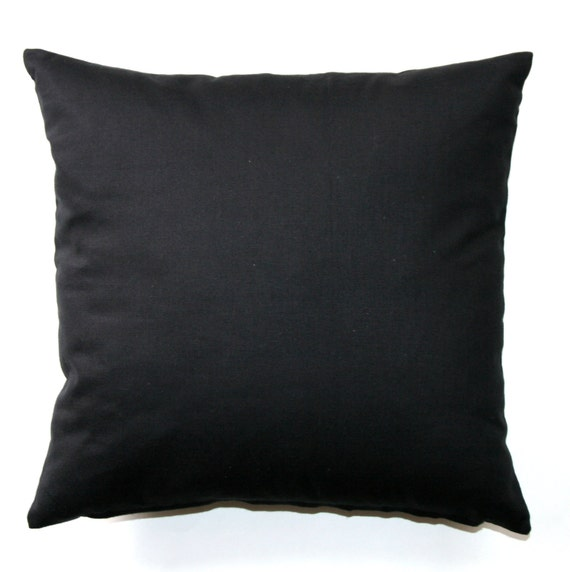 Outstanding Solid Throw Pillows Solid Black Pillow Cover Zippered Pillow Pillow Case Plain Pillow Cushion Cover Neutral Decor Black Couch Pillow Inzonedesignstudio Interior Chair Design Inzonedesignstudiocom