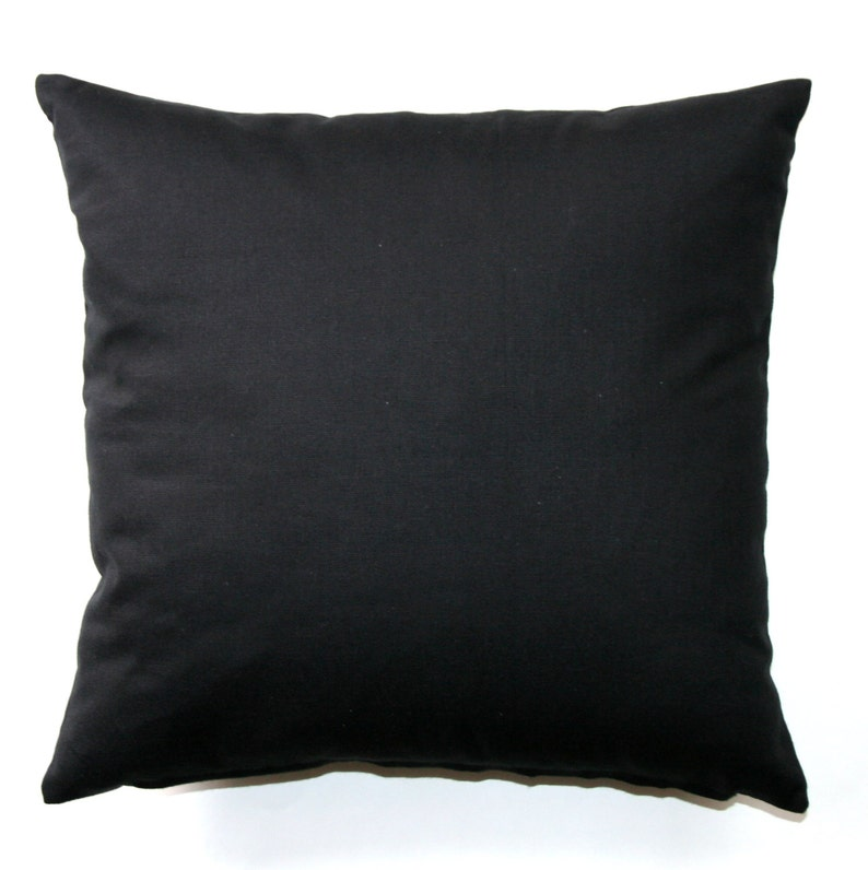 Solid Throw Pillows Solid Black Pillow Cover Zippered Pillow Pillow Case Plain Pillow Cushion Cover Neutral Decor Black Couch Pillow