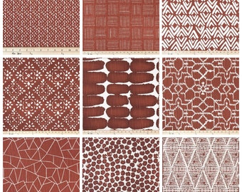 Modern Curtains- Drapery Panel Pair- Rust Curtains- Custom Drapes- Bedroom Window Shade- Valance- Cafe Curtains- Red Curtains- Add Grommets