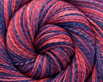 Handspun Yarn, Bulky weight - CANDY FLOSS - Handdyed Merino/Bamboo/Silk blend, 184 yards, gift for knitter, pink handspun, weft yarn