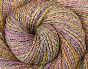 Luxury Handspun Yarn, Bulky weight - NURSERY RHYMES - Handpainted 60/40 Polwarth/Silk, 146 yards, hand spun, navajo plied, hand dyed yarn