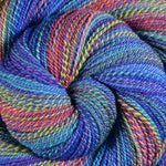 Multi-skein Self Striping Handspun Yarn, Fine Fingering weight - KALEIDOSCOPE EYES - Ultrafine 15.5μ Merino wool, 1010 yds, gift for knitter