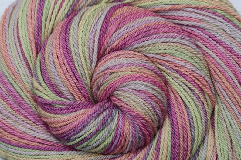Handspun Yarn Dk weight  MERRY-GO-ROUND  Hand dyed 21.5μ image 0