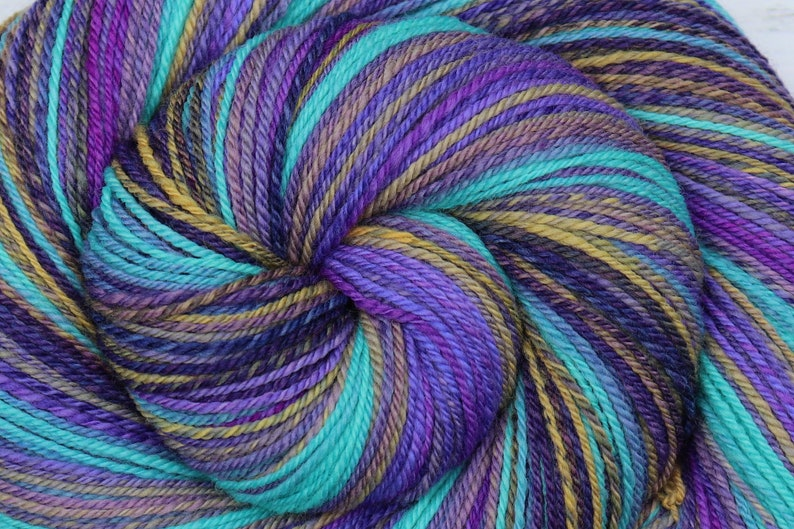 Handspun Yarn DK weight  LOVE LETTERS  Hand dyed 21.5μ image 0