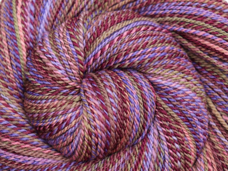 Handspun Yarn  PIXIE DUST  Hand dyed Superfine 19μ Merino image 0