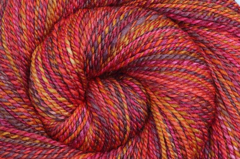 Worsted weight Handspun Yarn  CORNUCOPIA  Handpainted 60/40 image 0