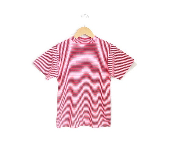 Vintage 1960s Candy Striped Tshirt | NOS Never Wo… - image 2