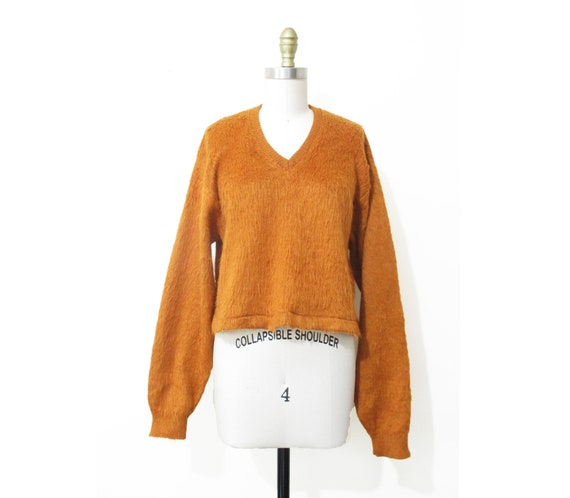 Vintage 1960s Mohair Sweater | Burnt Orange Mohair