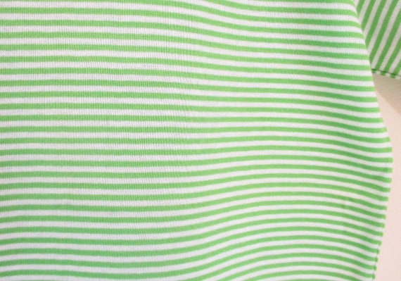 Vintage 1960s Green Striped Tshirt   NOS Never Wo… - image 5