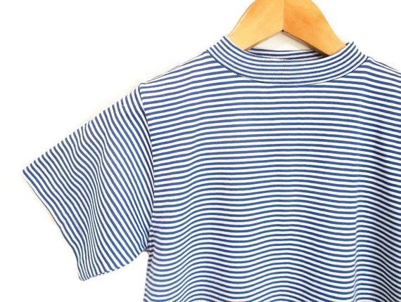 Vintage 1960s Striped Tshirt | NOS Never Worn 196… - image 1