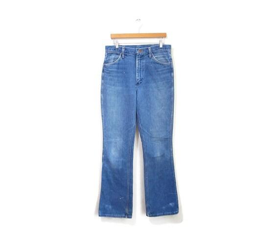 Vintage 1970s Jeans | Wrangler Medium Wash Well Wo
