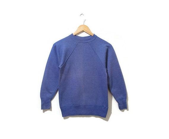 Vintage 1950s Sweatshirt | Faded Indigo Hanes Bree