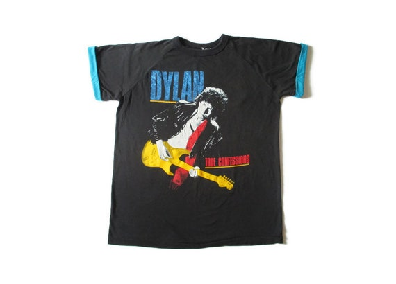 Vintage 80s Bob Dylan Tshirt   True Confessions To