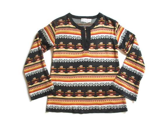 Vintage 1970s Sweater | Thunderbird Pattern NOS 19