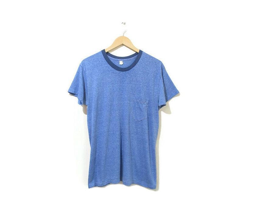 1960s – 70s Men's Ties | Skinny Ties, Slim Ties Vintage 1970S Paper Thin Tshirt  Heathered Blue 1960S 70S Ringer Tee Size Medium $0.00 AT vintagedancer.com