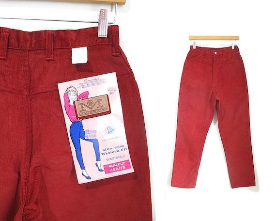 Vintage 1960s Deadstock Corduroy Pants | Rust Red
