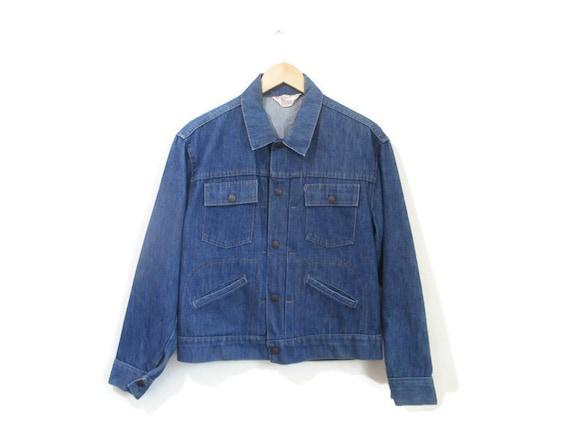 Vintage 1960s Denim Jacket | Medium Wash Denim 196