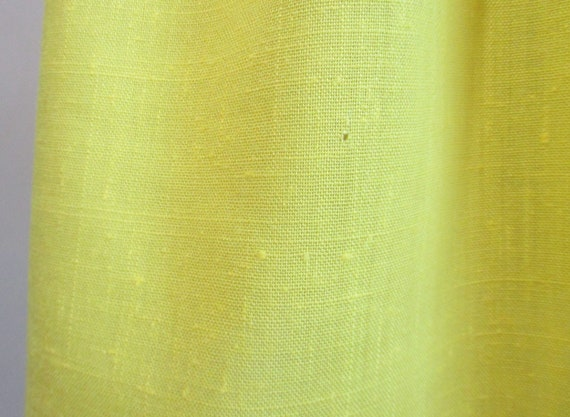Vintage 1970s Sundress   Bright Yellow Embroidere… - image 8