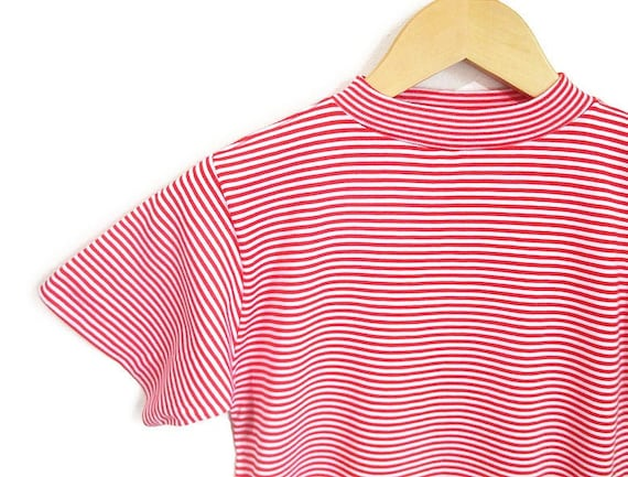 Vintage 1960s Candy Striped Tshirt | NOS Never Wo… - image 1