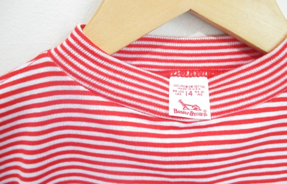 Vintage 1960s Candy Striped Tshirt | NOS Never Wo… - image 3