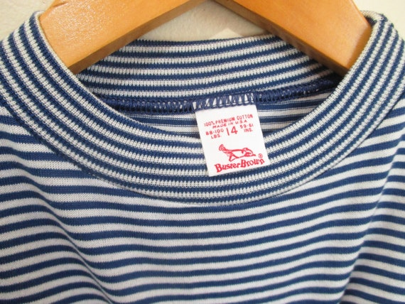 Vintage 1960s Striped Tshirt | NOS Never Worn 196… - image 3