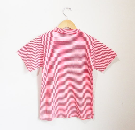 Vintage 1960s Candy Striped Tshirt | NOS Never Wo… - image 4
