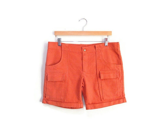 Vintage 1960s Corduroy Shorts | Jantzen Pumpkin Or